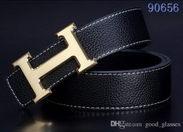 Wholesale car brand belt buckles - New Luxury Belts Fashion Designer H Men Women Letter Buckle Belt Cool Male Gold Silver Leather Belts Mens Brand Designer for Sale