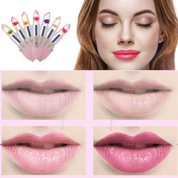 Wholesale Magic Lipsticks - Creative Flower Lipstick Color Jelly Transparent Magic Changing Lip Temperature Change Waterproof Lasting Color Locking P163