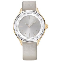 Wholesale Original Japan - 2018 Brand NEW Fashion women genuine leather Luxury wristwatch Female clock japan movement watch Relojes De Marca Mujer Original swan model