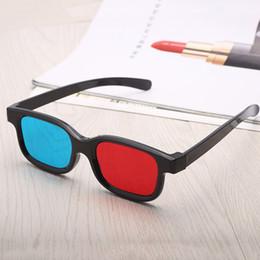 2019 lunettes bleues pas cher Le plastique 3D bleu-rouge d'anaglyphe de lunettes 3D pour le jeu 3D de film les verres de réalité de Vitural de rouge-bleu de cinéma de vision DVD