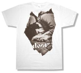 Canada LES PORTES T-SHIRT BLANC BLANC OFFICIEL ADULTE JIM MORRISON T-shirt Design Homme's High Quality Offre