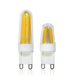 Wholesale G9 12v Led - 1pcs Dimmable G9 LED Lamp 220V Mini LED G9 E14 Filament Bulb COB LEDLight Bulb High lumen Chandelier Lights Warm Cold White