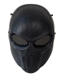 máscara de paintball del ejército Rebajas máscara de castigo Castigador Ejército Negro Cráneo táctico Máscara de rostro completo CS Wargame Paintball Cosplay