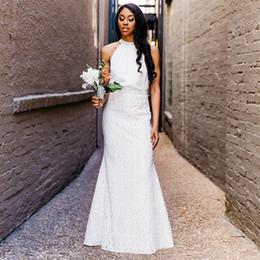Elegante encaje africano de la boda online-Elegante encaje sirena boda faldas longitud del piso por encargo de dama de honor faldas vestidos de fiesta de boda africana blanco rosa gris