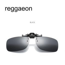32ad0d989 2018 unisex polarizada clipe em óculos de sol near-sighted condução lente  de visão nocturna anti-uva anti-uvb ciclismo equitação óculos clipe