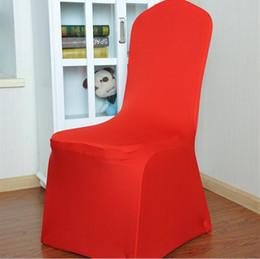Sillas de hotel usadas online-Material de poliéster Cubiertas de sillas de playa Cubierta de silla de boda Fundas de silla de hotel Silla de banquet Utilice sillas cubiertas para bodas envío gratis