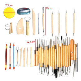 Wholesale Pottery Carving Tools - 42Pcs Pottery Carving Tool Set Wooden Clay Sculpting Tools DIY Art Supplies High Quality 55bm C R