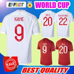 Wholesale Free Soccer Jerseys - Fast CNE Free Shipping 2018 England DELE ALI World Cup Soccer Jersey 18 19 Home White Away KANE RASHFORD VARDY BARKLEY Football Shirts