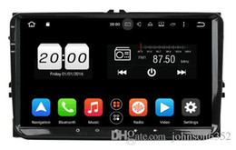 Wholesale Passat Dash - Android 7.1 car radio player 2Din 9 Inch Car DVD Player For VW Volkswagen POLO PASSAT Golf Skoda Seat Fabia With Wifi Radio GPS Bluetooth SD