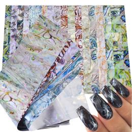 Adesivo de mármore on-line-16 PCS Colorido Mármore Brilhando Pedra Rocha Nail Art Foil Adesivos Transferência de Colagem Lindo Manicure Nail Art Decorações TR492