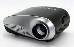 billige mini lcd projektoren Rabatt Preiswerter beweglicher Projektor Mini-LED-Projektor 4K Fernsehspan-Doppeltes HDMI Hafen USB Sd Schnittstelle 1080P volle HD analoge Fernsehschnittstelle DHL GEBEN frei