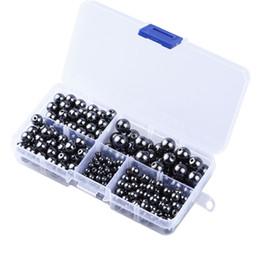 Wholesale Hematite Crosses - 4MM 6MM 8MM 10MM Black Hematite Gemstone Loose Black Stone Beads For DIY Charms Bracelet Jewelry Making G193L