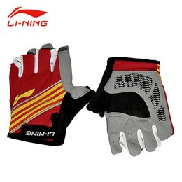 Wholesale Li Ning Basketball - Li-Ning Unisex Half-Finger Sports Gloves Professional Anti-Slip Training Protector LiNing Basketball Running Gloves ADEM018