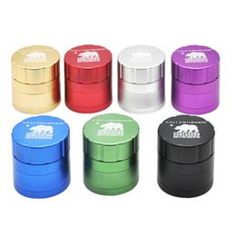 Wholesale Aluminium Gift Boxes - Cali Crusher Grinder 4Layers 42mm 53mm Tobacco Metal Aluminium Alloy Herb Spice Crusher Gift Box herbal vaporizer Grinder W05C