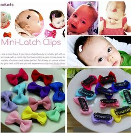 Wholesale Infant Flower Hair Clips - infant newborn Bow Clip Fashion Cute Printed Flower Infant Baby Mini Small Bow Hair Clips Hairpins Little Hair Kids Girls Hair Accessories B