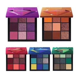 2018 Más Nuevo Maquillaje Caliente Marca Paleta de Belleza 9 colores mini paleta de sombras de ojos 5 Estilo estrella colores Sombra de Ojos envío DHL desde fabricantes