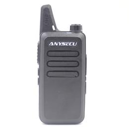 Wholesale Mini Uhf Radio - ANYSECU Mini Radio AC-U2 UHF 400-470MHz 16 Channel handheld Transceiver Walkie Talkie
