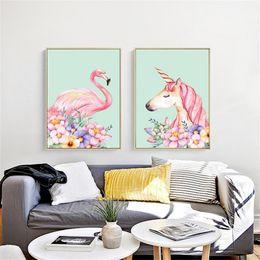 Wholesale Floral Home Decor Canvas - Frameless Square Cross Stitch Flamingo Unicorn 5D DIY Diamond Painting Wall Hanging Home Living Room Decor 33om3 C