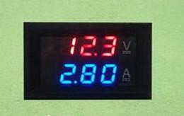 Affichage numérique volts ampères en Ligne-DC 0-100V 10A Voltmètre Numérique Ampèremètre Double Affichage Détecteur de Tension Current Meter Panel Amp Volt Gauge 0.28