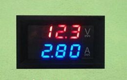 Pantalla digital voltios amperios online-DC 0-100V 10A amperímetro del voltímetro digital Pantalla dual Detector de voltaje Medidor de corriente Panel Amp Volt Voltager 0.28