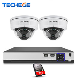 Wholesale Nvr Cameras - CCTV System 4CH 4K POE NVR 4MP POE IP Camera Vandalproof IR Night Vision Motion Detection Security Surveillance System