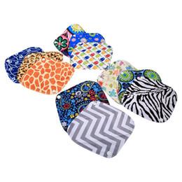 10 Patrones 20 x 18 cm Mujeres Higiene Femenina Reutilizable Lavable Panty Liner Paño de bambú Mama Menstrual Sanitario Pañal Toalla Toalla desde fabricantes