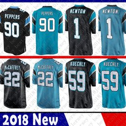 Maglia newton online-Limitato 22 Christian McCaffrey 1 Cam Newton Carolina Jersey Panther 59 Luke Kuechly 90 Julius Peppers 88 Grigio Olsen Football Maglie