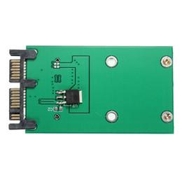 Toptan Satış - Yüksek Kalite Sabit Disk Sürücüsü Adaptörü Mini PCIe PCI-e mSATA 3x5cm SSD 1.8 İnç Mikro SATA Adaptörü Dönüştürücü Kartı cheap ssd sata 1.8 nereden ssd sata 1,8 tedarikçiler