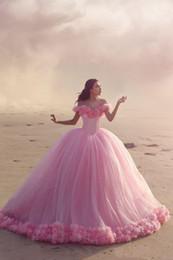 2019 robes de quinceanera pourpre sans bretelles 2018 robe de bal rose bébé robe Quinceanera robes de l'épaule corset vente chaude douce 16 robes de bal avec des volants robe de soirée