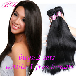 Wholesale Natural Human Hair Mixed Bundle - BD Silky Straight Human Hair Extensions Brazilian Virgin Hair Cheaper Body Wave Loose Wave Straight Human Hair Bundles