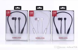Wholesale beating headphones - BT-31 Wireless Bluetooth Headphones Sports Neckband Headset In-ear Handsfree Stereo csr4.0 Magnetic Earphones HBS900 HBS910 I7 TWS For Beat