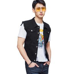 f4637231f1 New Fashion Summer Hot Sale Mens Waistcoat Slim Fit Sleeveless Denim Vests  Trend Jean Jacket Coat Casual Cowboy Outerwear Male