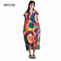 2f77f0c24ca ARCSINX Summer Women s Dress Plus Size 6XL 5XL 4XL Tie Dye Sleeveless Women s  Dresses Big Sizes Casual Dress Women Sundress tie dye summer dresses  promotion
