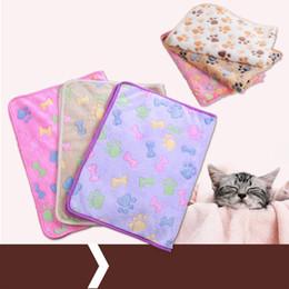 Animal design blankets on-line-Cobertor do animal de Estimação Super Macio Coral Canil De Cão De Kennel Pad Multi Tamanho E Design Manter Animal Quente Mat Chegam Novas 2 5xw3 Y ZW