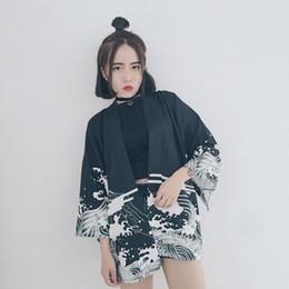 2019 torta di scarpe blu NewHot vendita donne giapponesi Harajuku kimono tradizionale yukata giappone vestiti camicia tradizionale kimono kimono ragazza moda cappotto