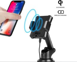 Wholesale Cradle Charger For Blackberry - Wireless Car Charger Mount Air Vent Phone Holder Cradle Automatic induction cell phone holder for iPhone X,iPhone 8 8plus Samsung S8 S7