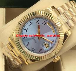 relógios de pulso de platina Desconto Relógios de luxo 2 Estilo Platina 41mm Ice Blue Árabe Rare Dial Fluted Bezel Automático dos homens da Moda Relógio de Pulso Novo Estilo