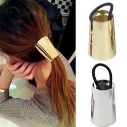 joyería atractiva de metal Rebajas Joyas atractivas Metal Big Gold / Silver Plated Elastic Ponytail Holder Hair Ring