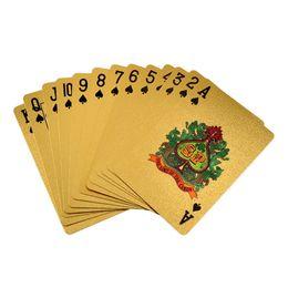 научный пакет Скидка Горячие продажи Новых 24K Gold Foil покрыли Покер игральных карт Коллекции Box евро / доллар / Общий Стиль Для Entetainment Подарочных игрушек