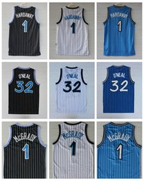 Wholesale brown movies - Cheap Men's 32 Shaquille O'Neal Jersey 1 Penny Hardaway 1 Tracy McGrady Stitched Shaq ONeal College Basketball Jerseys Drop Shipping Movie