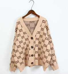 a054b7cd915d9 fashion ladies knitted sweaters Coupons - Womem Sweater with Buttons Long  Sleeve Striped Knitted Cardigan Ladies
