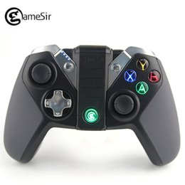 controlador de juegos bluetooth android Rebajas GameSir G4s 2.4Ghz Wireless Controller Bluetooth Gamepad para Android TV BOX Smartphone Tablet PC VR Games