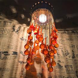lampara moderna tom dixon Rebajas Bohemia colgar lámpara de goteo Retro exótico estilo étnico sala de estar dormitorio restaurante Cafe Hotel lámpara turca