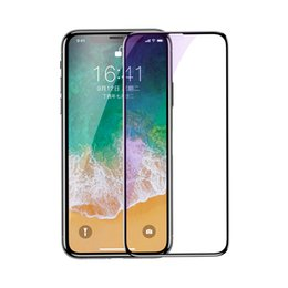 Wholesale Silk Glasses Box - Baseus 0.3mmSilk-screen 4D All-screen Tempered Glass Film For iPX Anti-bluelight 9H Hardness 3D Touch operation Retail Box