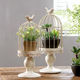 Bougies blanches en Ligne-Les bougeoirs blancs de cage de birdcage de fer de mariage portent un nouvel article
