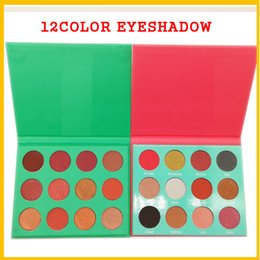 Wholesale Green Eyeshadow Palette - Shine Multifunctional Professional Eyeshadow Palette Masquerade 12 Color Eyeshadow Yellow Purple Green Red makeup Nubian Saharan