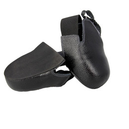 Wholesale Protection Materials - New 1pair lot Man woman safety shoes real leather steel overshoes woker shoes cover Visitor overshoes toes protection material : steel EN12