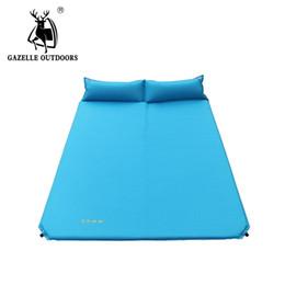Газель надувной матрас пляж мат автоматический воздушный матрас кемпинг мат воздушный матрас кровать с подушкой спальный коврик 185*132*2.5 от