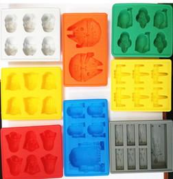 Estuches cúbicos online-3D Ice Cube Molde Fabricante de Bandas Caja de Bandejas de Silicona Halloween Cake Candy Molde Herramienta de Cocina Regalo 8 colores 15 * 12 * 2 cm 6 unids / lote