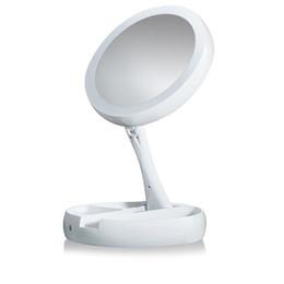 Диаметр линзы онлайн-LED  mirror Collapsible 21 bright LED lights mirror diameter:17.5cm fold height:5.3cm Unfold height:28.5cm ABS+glass lens